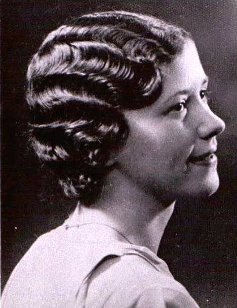 Woman with a marcel wave bob